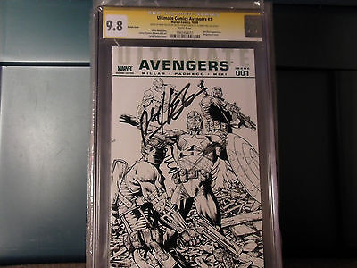 Ultimate Comics Avengers #1 Sketch Fan Expo Variant Cgc 9.8 Ss 3X Mark Millar