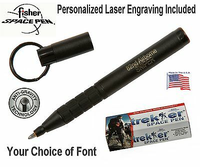 Personalized Fisher Space Pen #725B Matte Black Trekker  Pen / Gift Boxed