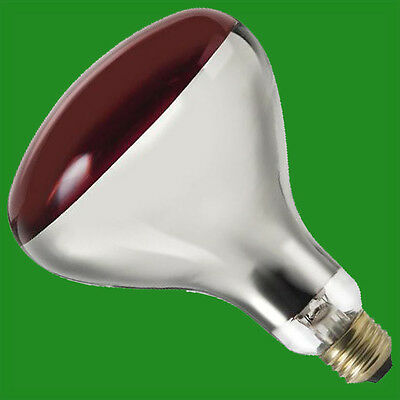 250W Infra Red Heat Bulb Ruby Red ES E27 Lamp, Muscular Healthcare, Rheumatism