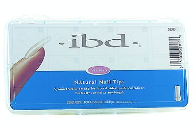 IBD Natural Nail tips box of 100  - full well false nails acrylic gel fibreglass