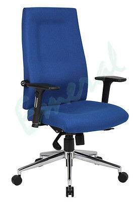 Zaragoza 24hr High Back Fabric Posture Task Office Chair In Black or Blue