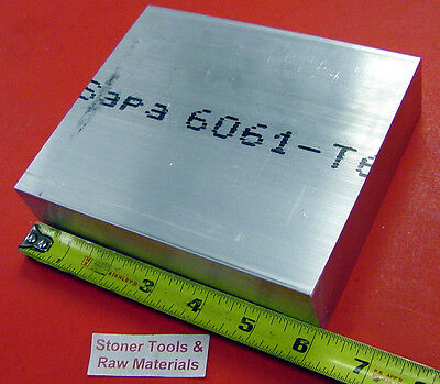 """1-1/4"""" X 6"""" ALUMINUM 6061 FLAT BAR 6"""" long Solid T6511 Extruded Plate Mill Stock"""