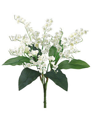 LILY of the VALLEY Bouquet Sprays Silk Wedding Flowers Centerpieces Bride Bridal