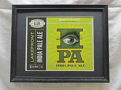 Lakefront India Pale Ale  Beer Sign  #873