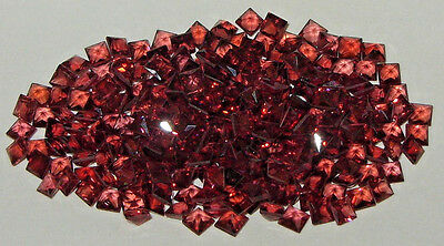 3mm Tanzania Orange Red Malaya Garnet Radiant Princess Cut (2 For 1)