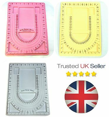 1 x Large Flocked Bead Board Tray Design Beadboard 32cm x 23.5cm FREE UK P+P ML