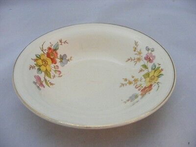 "3 Knowles 5.25"" Fruit Bowl Red Blue Pink Yellow Roses"