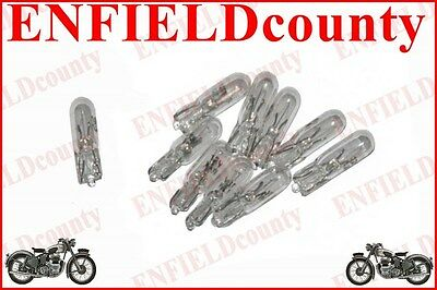 10 SMALL CLEAR WEDGE BASE CAR SCOOTER MOTORBIKE BULBS 12V-1.2W 5/14.5/18mm SPARE