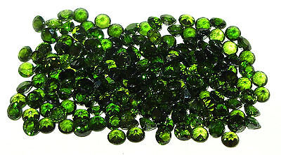 4.5mm Green Russian Chrome Diopside Round Cut