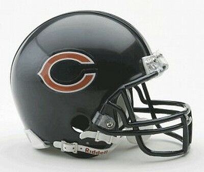 Chicago Bears Replica Mini Helmet from Riddell,NFL Football Helm,1:2,NEU