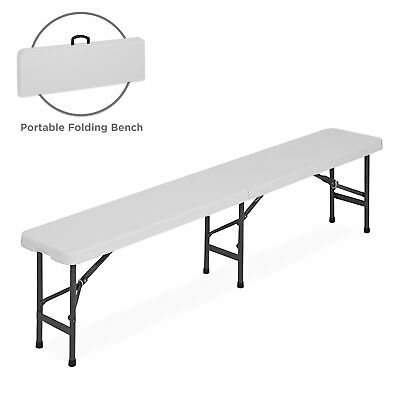 6' Folding Portable Plastic Indoor / Outdoor Picnic Party Dining Bench