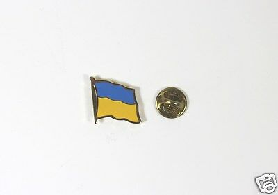 Ukrainian National Country Flag Lapel Pin Metal
