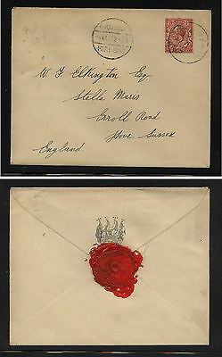 Great   Britain   Egypt paquebot  cover  cancel  1927  to  England     MS0207