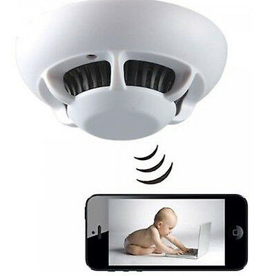 P2P Smoke Detector WiFi Camera Wireless IP Camera DVR Digital Video Recorder Cam