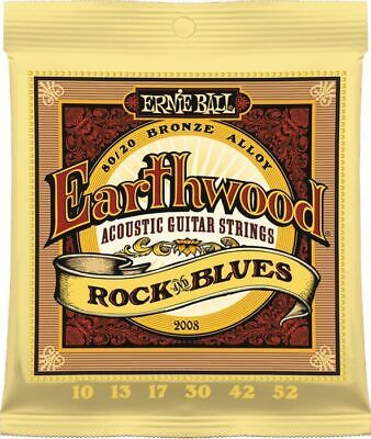 Ernie Ball 2008  Acoustic Guitar Strings Earthwood  10-52 - New