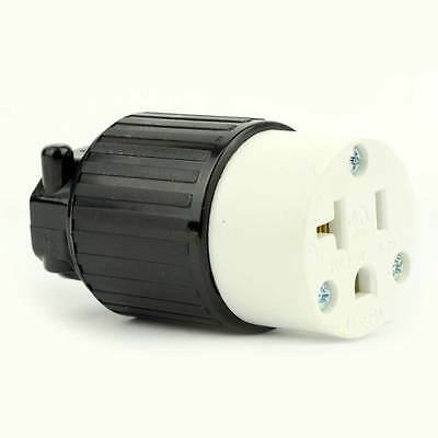 Straight Electrical Receptacle 3 Wire, 20 Amps, 125V, NEMA 5-20R   - YGA021F