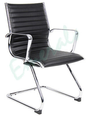 Albacete Leather Faced Visitor Meeting Reception Conference Chair Colour Choice