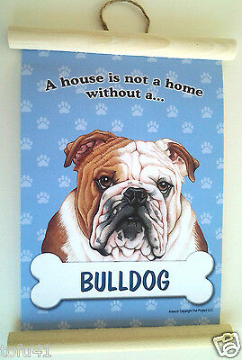 A House Is Not A Home Without A Bulldog Wall Hanging Dog Novelty  2