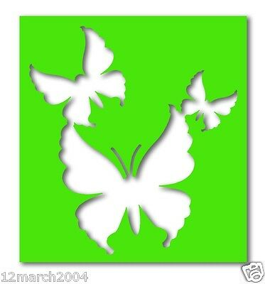 SD156 - Butterflies (Style 2) Stencils x 5 (suitable for glitter & ink tattoos)