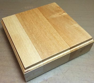 BASETTA BASE IN LEGNO TIGLIO PER FIGURINI - PLINTH DISPLAY WOOD BASE 10x10 h3