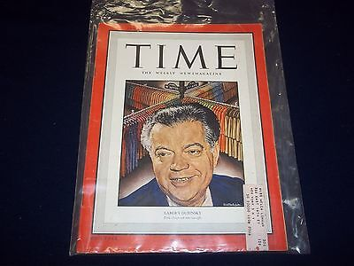1949 AUGUST 29 TIME MAGAZINE - LABOR'S DUBINSKY - GREAT FRONT COVER - D 1859