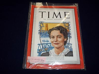 1949 OCTOBER 10 TIME MAGAZINE - MARGARET CLAPP - GREAT FRONT COVER - D 1849
