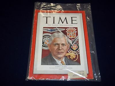 1949 JANUARY 24 TIME MAGAZINE - DETROIT'S WILSON - GREAT FRONT COVER - D 1884
