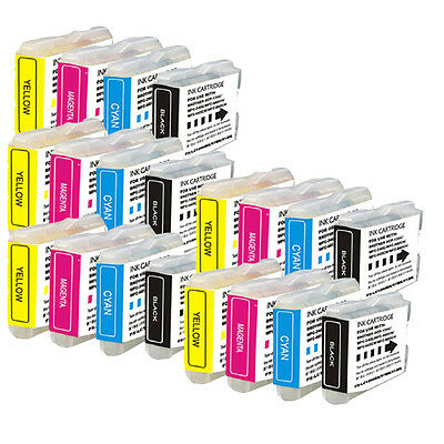 20 PK Printer Ink Set use for Brother LC51 All In One MFC-240C MFC-885CW Combo