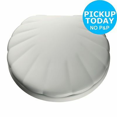 HOME Shell Adjustable Antibacterial Toilet Seat - White:The Official Argos Store