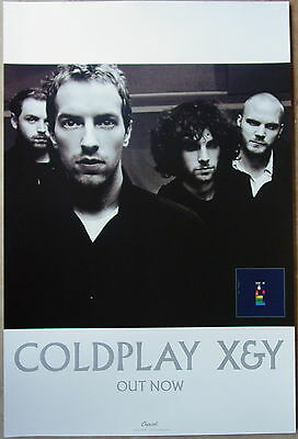 COLDPLAY Rare X&Y 24x36 PROMO Poster CHRIS MARTIN John Buckland HUGE And X & Y