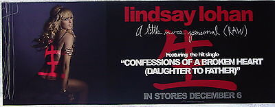 LINDSAY LOHAN A Little More Personal PROMO Poster Confessions Of A Broken Heart