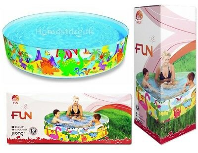 Rigid Water Swimming Paddling Pool Printed For Children Kid Garden Outdoor Fun