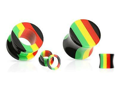Rasta Screw Fit or Saddle Ear Plug / Stretcher / Flesh Tunnel