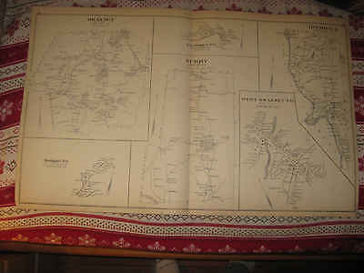 Antique 1892 Hinsdale West & Swanzey Keene Surry New Hampshire Map Rare Nr