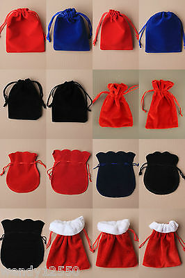 Assorted Colour Velvet Bag / Pouch : Choose Colour, Size & Quantity  Wholesale