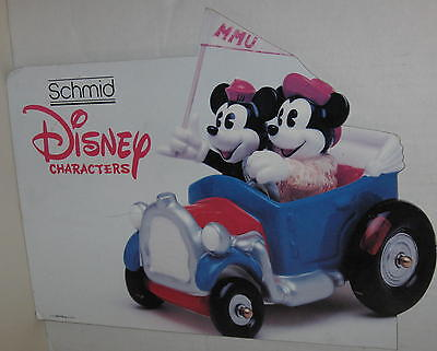 "Disney ""Mickey & Minnie Mouse - Disney Characters by Schmid"" Store Sign"
