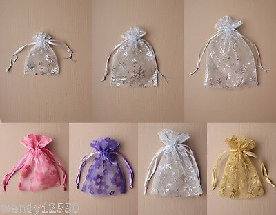 Printed Organza Bag / Pouch : Choose Colour, Size & Quantity  : Wholesale