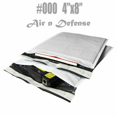 1000 #000 POLY BUBBLE PADDED ENVELOPES MAILERS BAGS 4 x 8 SHIPPING AirnDefense