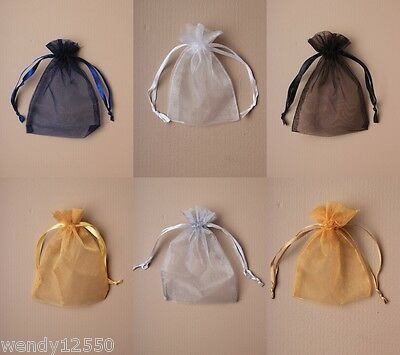 Plain Organza Bag / Pouch : Choose Colour, Size & Quantity  : Wholesale