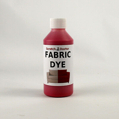 BRIGHT RED Fabric Dye for Sofa, Clothes, Denim, & more. Repairs & Re-Colours