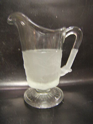 L G Wright Westward Ho Creamer Pitcher Tippecanoe Excellent Condition