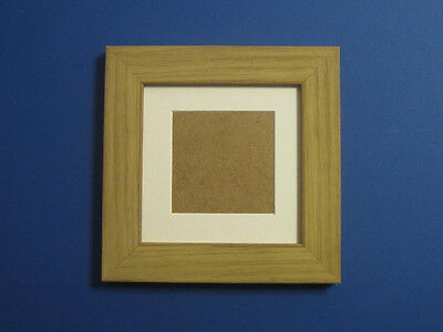 Antique Pine Real Wooden 5x5 Square Picture Photo Frame Mount 3x3