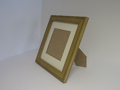 Photo Frame With Mount Black Instagram Square Driftwood Effect Flat Picture