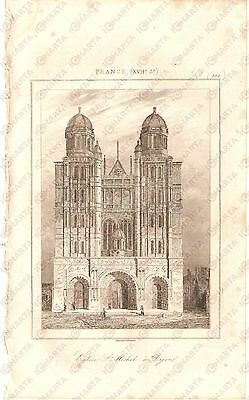 1840 DIJON (FRANCE) Eglise Saint Michel - L'Univers *Stampa Inc. LEMAITRE