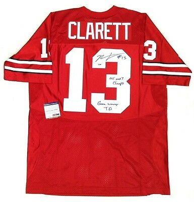 Maurice Clarett Signed & Inscribed Ohio State Buckeyes Jersey Psa/dna Coa