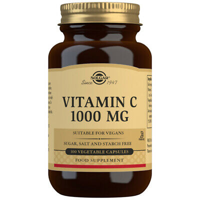 Solgar Vitamin C 1000mg - Choose either 100 or 250 capsules Suitable for Vegans