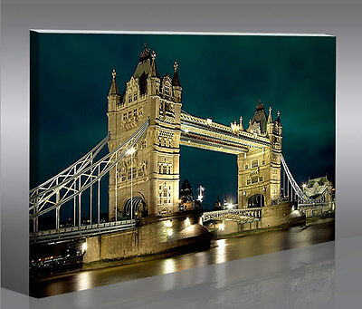 tower bridge london v4 mf bild auf leinwand bilder kunstdruck wandbild poster eur 39 90. Black Bedroom Furniture Sets. Home Design Ideas