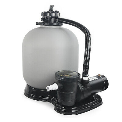 """Above Ground Swimming Pool Pump 4500GPH 19"""" Sand Filter / 1HP intex compatible"""