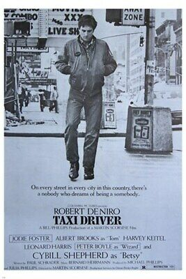 classic TAXI DRIVER movie poster ROBERT DENIRO JODIE FOSTER NYC TALE 24X36