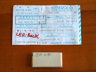 NOS Kenwood parts B11-1816-12 illumination guide for TK-2180 2-way radios